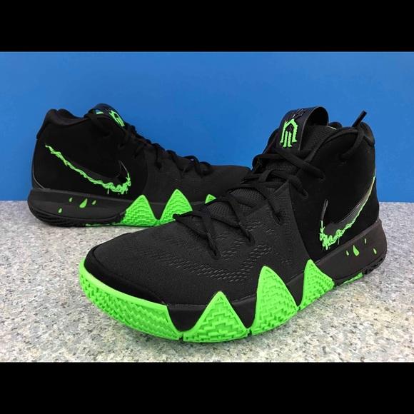 promo code b37a3 e23c1 Nike Kyrie 4 AA2897-012 Halloween Black Rage Green NWT